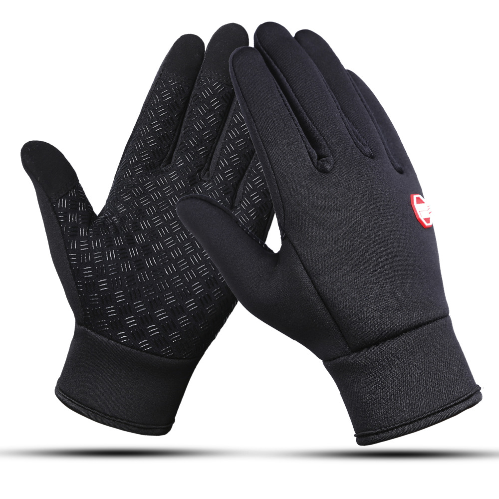 Outdoor Sports Touchscreen Winter Bicycle Bike Cycling Gloves For Men Women Windproof Simulated Soft Warm Men Skiing Gloves