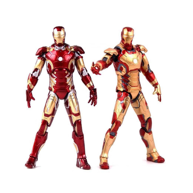 Image 5 - New Hot TheAvengers IronMan Action Figure Model 18 20cm MK42 MK43 Iron Man Doll PVC ACGN figure Toy Brinquedos Anime kids Toys-in Action & Toy Figures from Toys & Hobbies