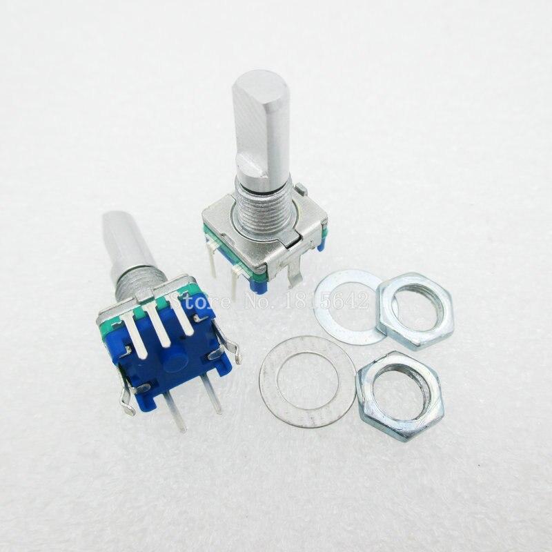5 pièces/lot prune poignée 20mm codeur rotatif commutateur de codage/EC11/potentiomètre numérique avec interrupteur 5 broches
