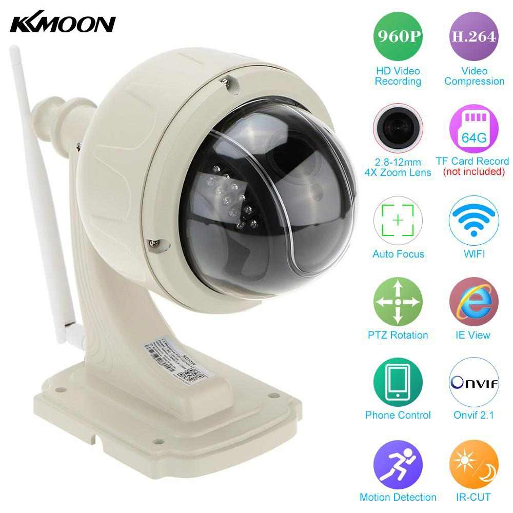 KKmoon 960P Wireless WiFi IP Camera Outdoor PTZ 2.8-12mm Auto-focus Waterproof H.264 HD CCTV Security Camera Wifi Night Vision