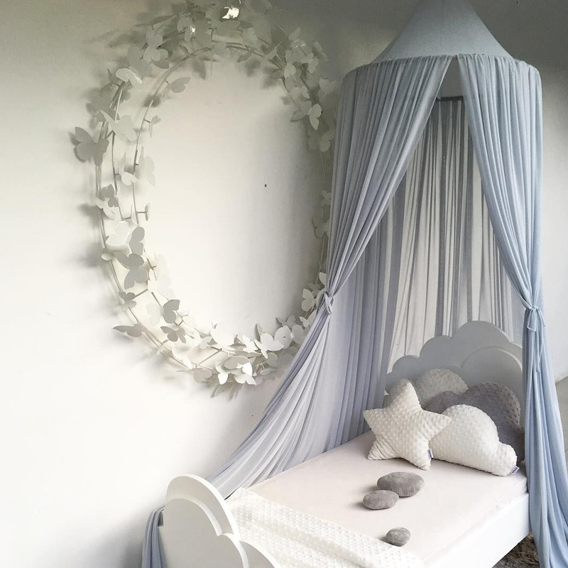 Methodisch Chiffon Tent Opknoping Kids Ronde Dome Decoratie Prinses Kerst Slaapkamer Bed Gordijn Luifel Bedcover Thuis Crib Playing Game Up-To-Date Styling