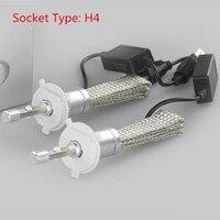 2pcs H4 LED Car Headlight Bulbs 6000K 40W 12V Car Head Fog Lamp Plug&Play COB Kit Auto Replacement Parts