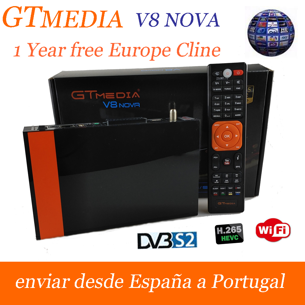 2018 Satellite TV Receiver Gtmedia V8 NOVA better than Freesat V8 Super Receptor which built in