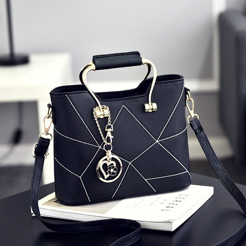 Frauen Umhängetasche Geometrische Design Weiblichen Handtasche Luxus Qualität Dame PU Leder Umhängetaschen Berühmte Designer Taschen Freya Safi