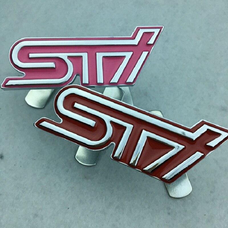 1 Pz/lotto Car Styling Nuovo 3d Metallo Sti Griglia Anteriore Emblem Sticker Badge Per Subaru Legacy Outback Forester Impreza Sti Ad Ogni Costo