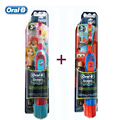 Children Electric Toothbrushes Genuine Oral B Cartoon Series Boys and Girls Tooth Brush with AA Battery (Twin Pack) Oral Hygiene