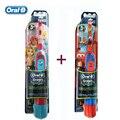 Los niños Cepillos de Dientes Eléctrico Oral B Genuino Serie de Niños y Niñas de Dibujos Animados Cepillo de Dientes con Batería AA (Paquete doble) Higiene Oral