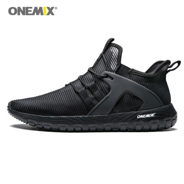 ONEMIX 2019 мужские кроссовки мужские суперлегкие кроссовки высокие эластичные мягкая подошва для наружного бег прогулочная обувь US6.5-12.5