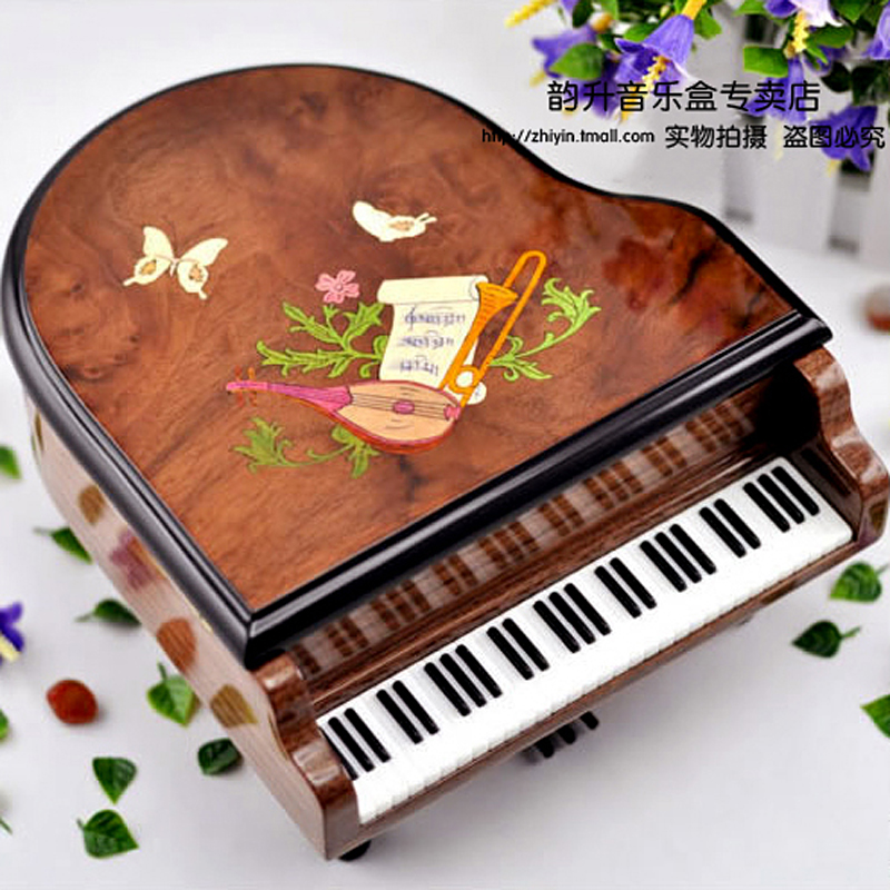 Yunsheng music box movements 18 note 30 note stencilling grand piano music box sweet musical mechanism gifts for lovers
