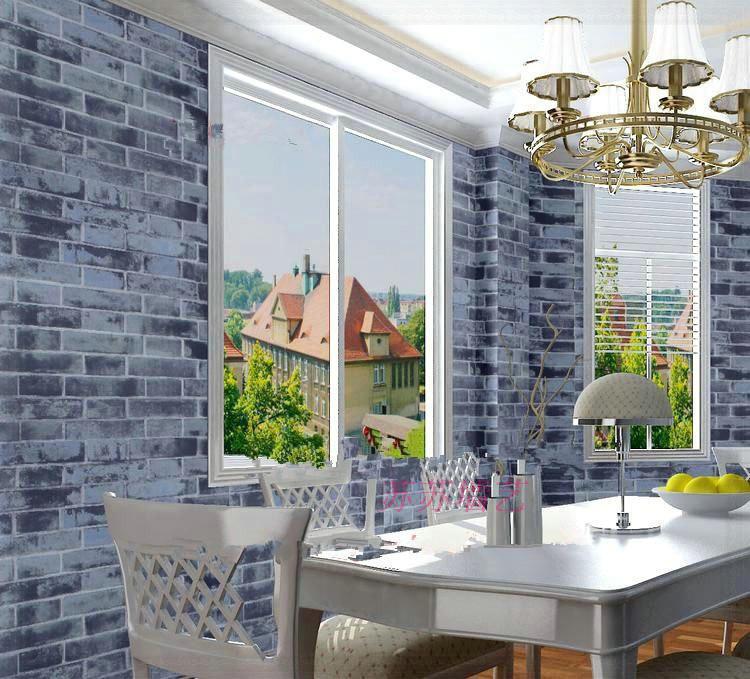 Non Woven Living Room Tv Wallpaper Wall Paper Retro Bricks Brick Red Brick Wall Paper Vivid