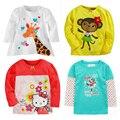 Novas Roupas de Outono Crianças Meninos T Camisas de Manga Longa Meninas Do Bebê T-shirt Do Bebê Do Algodão Meninos de Roupas Dos Meninos Da Criança Roupa Das Crianças