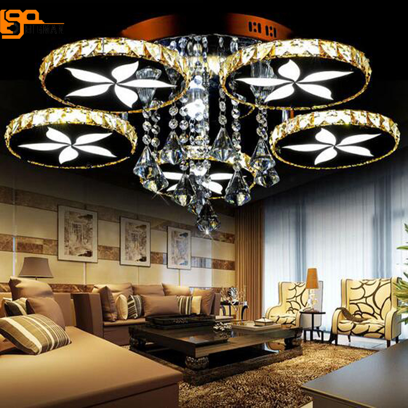 ring design modern LED chandelier lamp crystal led lights for living room bedroom crystal chandeliers ,AC110-220V led crystal chandeliers lamp round ring hanging lights modern led crystal chandelier fixture for living room lobby ac110v 240v