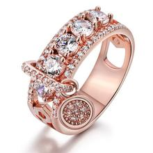 Cross-Border E-Commerce Supply New Plating Disc Ring European And American Women Fashion Creative Zircon Hand Jewelry(China)