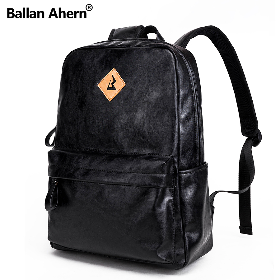 New Arrivals Men PU leather Backpack For 15.6inches Laptop Backpack Large Capacity Casual Style Bag Anti-theft Bags for Men men backpack student school bag for teenager boys large capacity trip backpacks laptop backpack for 15 inches mochila masculina