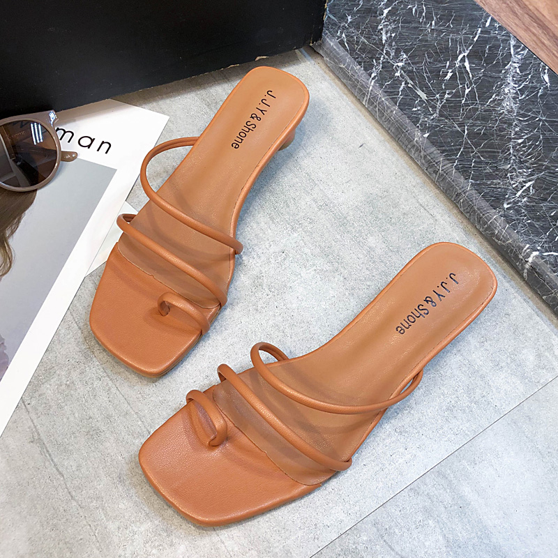 Slip On High Heels Sandals Women Colorful High Heels Slippers Ladies Summer Women Shoes 2019 New Classics Strap Sandals Ladies