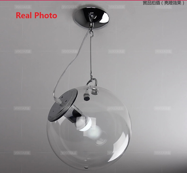 Modern 25/33CM Soap Bubble Ceiling Lights Glass Globe Abajur Ceiling Lamp E27 Fixture Lamps Living Room Home Luminaria Lighting