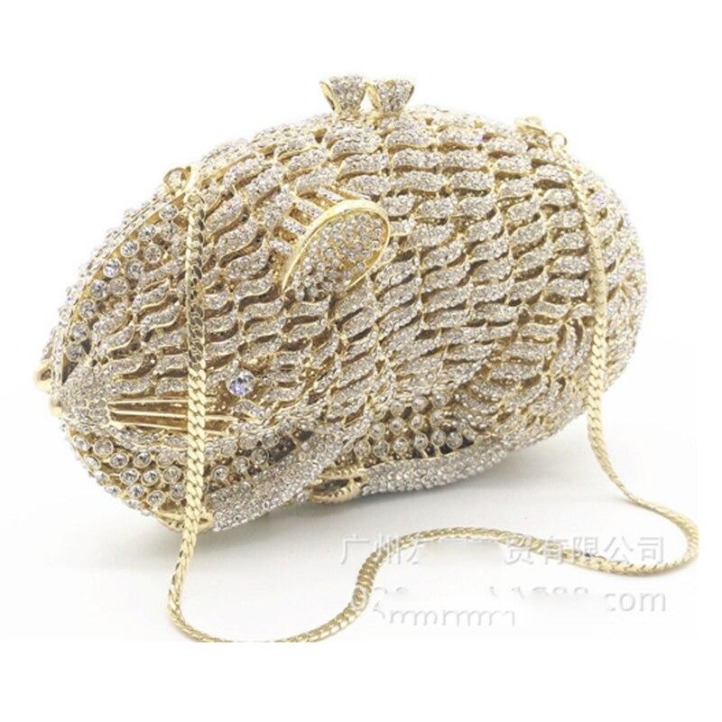 Sacs de soirée de mode pour femmes brillant diamants sac à main dames or Mini sacs à main strass pochette sac à main de fête de mariage portefeuille - 5