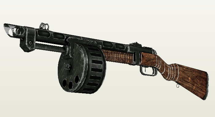 1: 1 Fallout 3 Semiautomatic Firearms Violence Shotgun 3D Paper Model Manual Can Not Launch