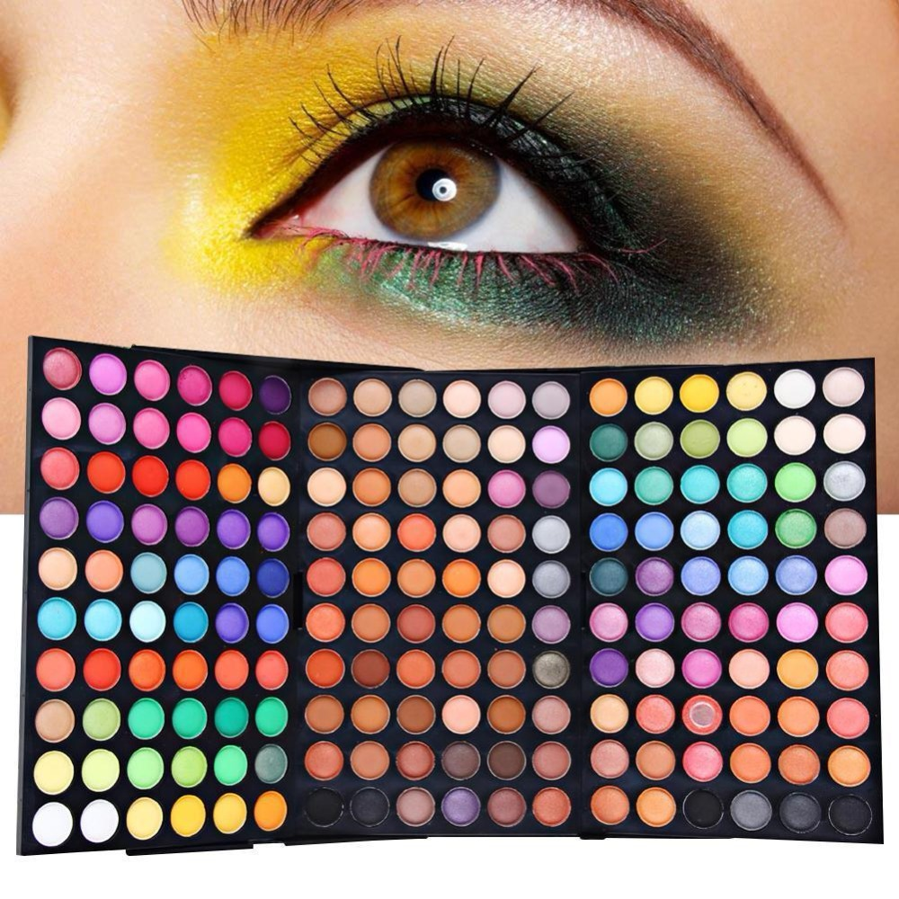 180 Color 3 Layer Eyeshadow Makeup Eyeshadow Palette cosmetic Make Up Eye Shadow Palette Full Size Luminous Set Kit DFDF saiantth makeup tool set kit combination 15 color concealer palette toothbrush makeup brush water drops sponge puff cosmetic