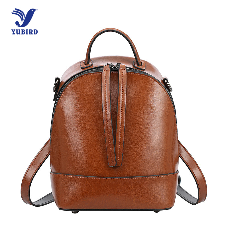YUBIRD Women Backpack Genuine Leather School Backpacks for Teenage Girls Shoulder Bag Large Capacity Travel Bags Lady Mochila 33cm women backpack oil wax cow genuine leather backpack for teenage girls school large capacity shoulder bag brown tote mochila