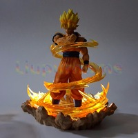 Dragon Ball Z Goku With Effect Led Night Lights Lamp Anime Dragon Ball Z DBZ Son Goku Led Lamp Christmas Decor Lampara Led