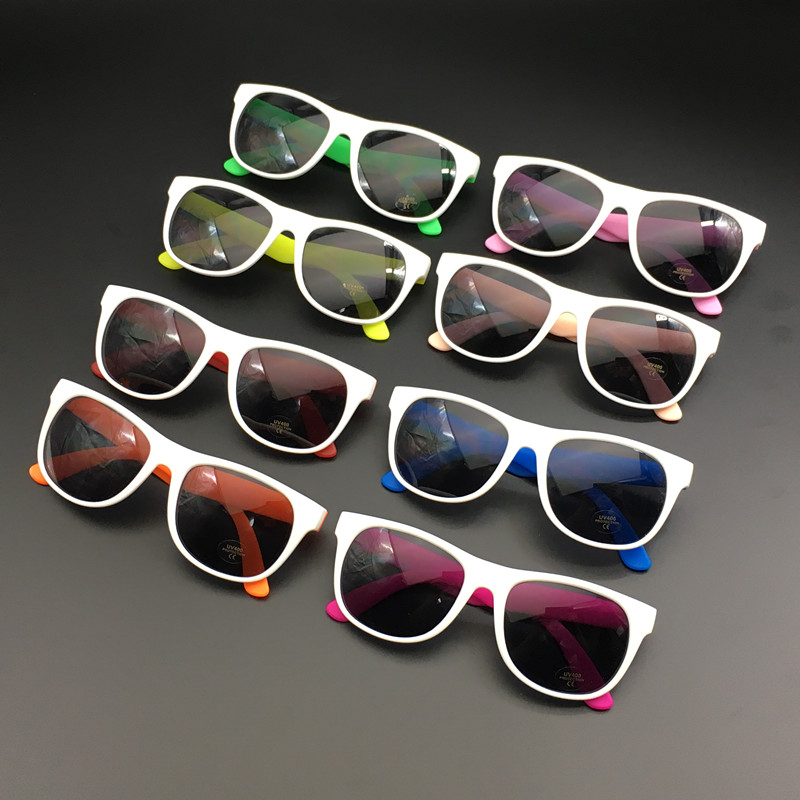 24 Pairs Custom Made Classic 80s Style Neon Sunglasses Wedding Favors Party Gifts Goody Bag Favors Colorful Party Sunglasses