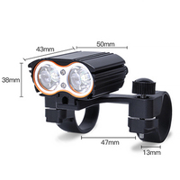 2400LM 2x XML T6 LED Bicycle Head Light Road Mountain Bike Head Front Lamp Waterproof