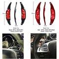 Auto styling Real Carbon Fiber Lenkrad Schaltwippen Für Mercedes Benz AMG A45 CLA CLS GLA GLE GLS SL63-in Lenkräder & Lenkrad-Naben aus Kraftfahrzeuge und Motorräder bei