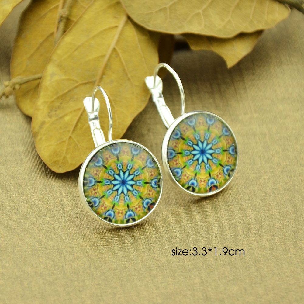 Feelshine Vintage Style Earrings Jewelry Bronze Silver Color With