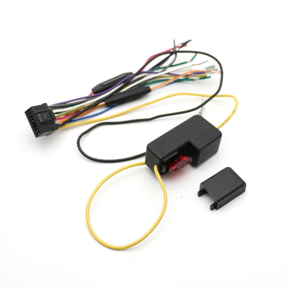 atocoto car power stereo radio wire harness with fuse cable connector adapter for pioneer deh  [ 1000 x 1000 Pixel ]