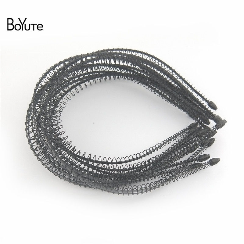 BoYuTe Retail 1 Piece Metal Black Hair Band Hairband New Style Black Color Metal Headband (12)