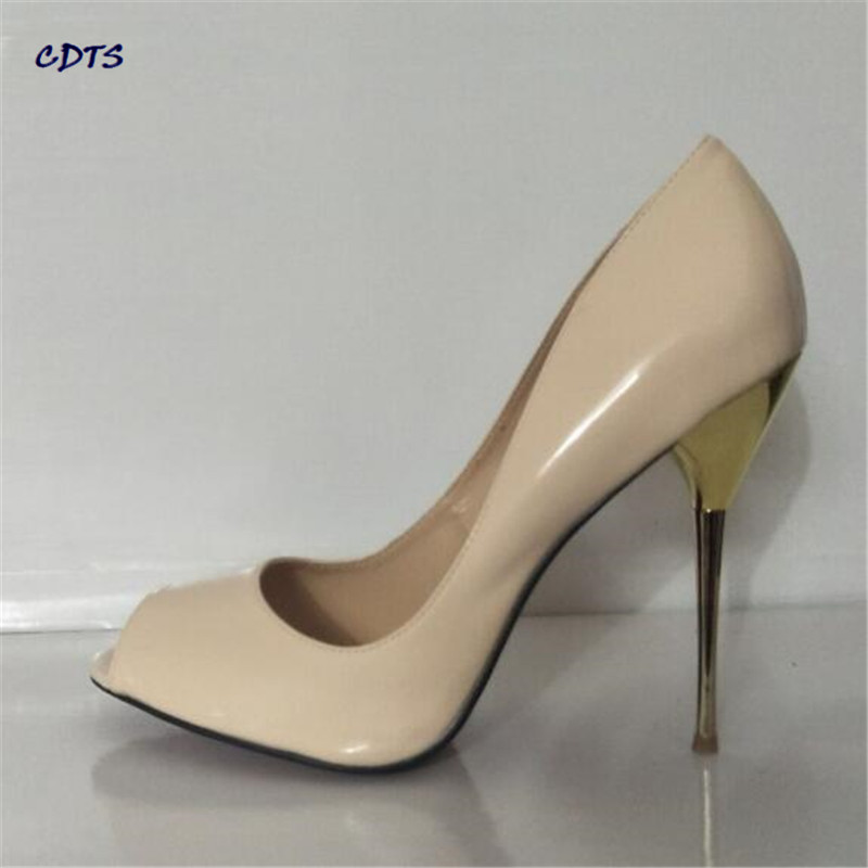 CDTS Stilettos Fashion 14cm Ultra high thin heels wedding shoes sexy Open toe pumps Plus size:45 46 47 48 49 50 Summer Sandals cdts plus 35 45 46 2016 spring summer 20cm ladies open toe ruffles thin high heels platform party pumps woman wedding shoes
