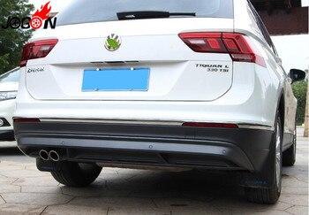 3 cái Phụ Kiện Phía Sau Bumper Skid Molding Bìa Trim Đối Với VW Volkswagen Tiguan 2017 2018 (Không phù hợp cho Tiguan allspace 7 chỗ ngồi)