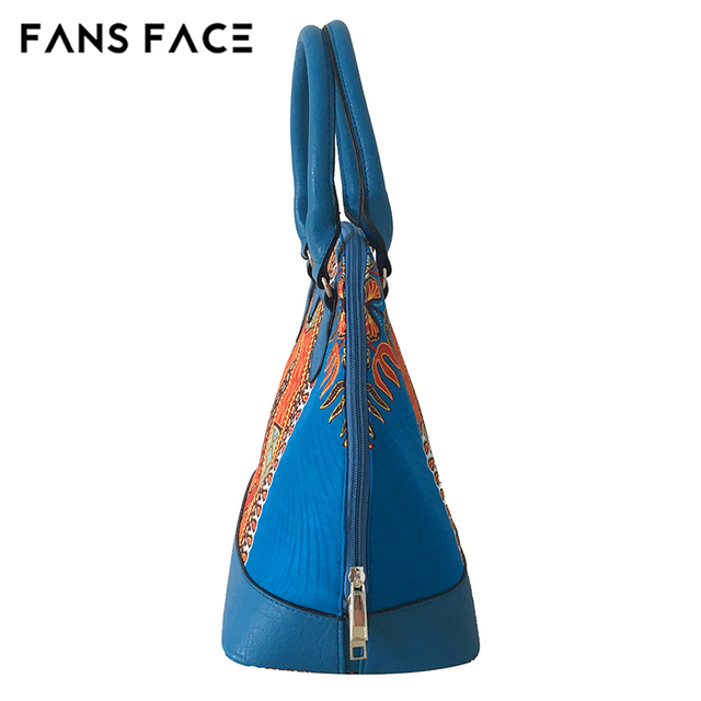 FANS FACE Traditional African Print Bags Female Shopping/Party Luxury Handbags Women Blue Bags Designer afrikanische kleider 5