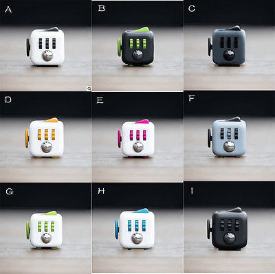 1PCs Stress Relief Fidget Cube Dice Gift For Family Adults Kids 10 Colors Christmas gift toy In Stock