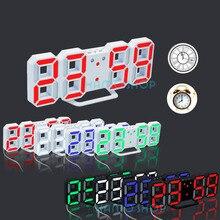 Светодиодные настольные часы Часы 24 или 12 час Дисплей повтора сигнала современные цифровые