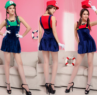 Red hat Ma Li sexy Halloween Game fun uniform lady Mary cos dress cosplay Mary