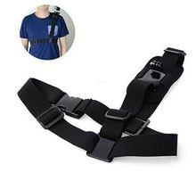 Shoulder Strap Mount Adaptador Para Gopro Chest Harness Acessórios para Ir Pro herói 6 4 5 Hero3 2 3 Edição Preto Xiaomi Yi