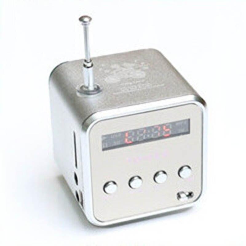 Neue Mini Lautsprecher Aluminium Legierung Stereo Lautsprecher Musik Player Mit Radio Unterstützung Sd-karte @ JH