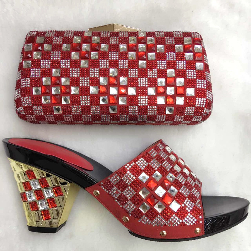 ФОТО High Quality African Shoes And Bags Set For Wedding And Party Latest Fashion Italian Women Sandal Shoes Matching Bag Set TT16-10