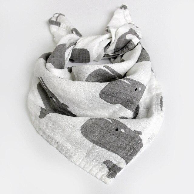 Hot Baby Towel 58x58cm 2 Layers Organic Cotton gauze Material Children Towels Soft Cartoon Towel Baby Bath Towel For Newborns