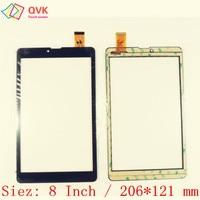 Black 8 inch for Irbis TZ877 TZ855 TZ854 TZ892 TZ884 TZ885 TZ874 Capacitive touch screen panel repair|screen guard for iphone|panel hoist|panel door -