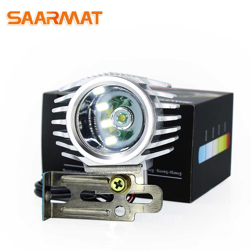 SAARMAT Led auto motorcycle headlight Spotlight fog light 6W 1000Lm with XML-T6 chip car styling Moto bike white @DC12 24V