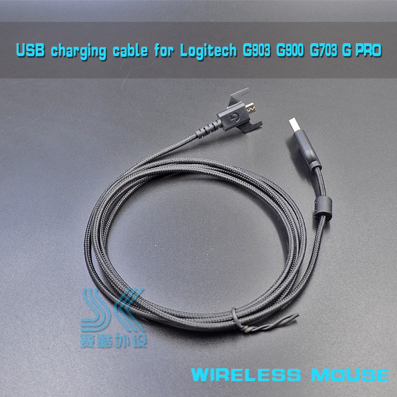 Durable USB charging mouse cable weaving Wire for <font><b>Logitech</b></font> G900 <font><b>G903</b></font> G703 <font><b>WIRELESS</b></font> GPRO Gaming MOUSE Free Shipping most areas image
