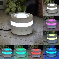 100ML rozpylacze olejków 7 kolorowa lampa LED nawilżacz aromaterapia elektryczny ultradźwiękowy dyfuzor zapachowy Mist Maker w Nawilżacze powietrza od AGD na