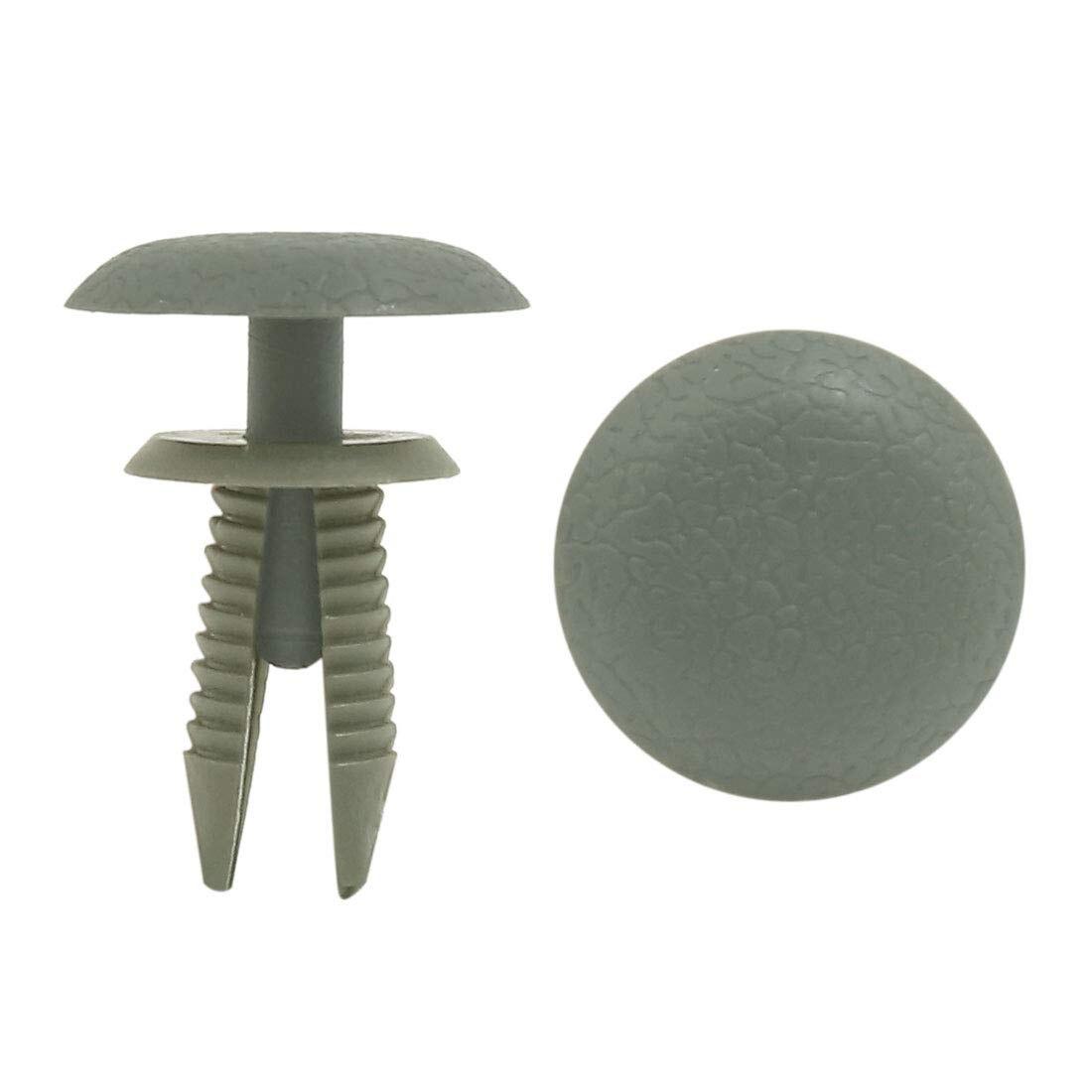 sourcingmap 50Pcs 6mm Hole Dia Fastener Door Retainer Clip Rivet Bumper Pin