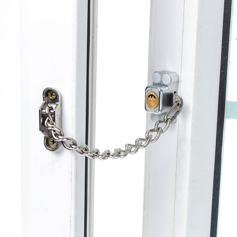 door chain lock keyed window security chain lock door restrictor child safety stainless antitheft locks for home sliding furniture hardware
