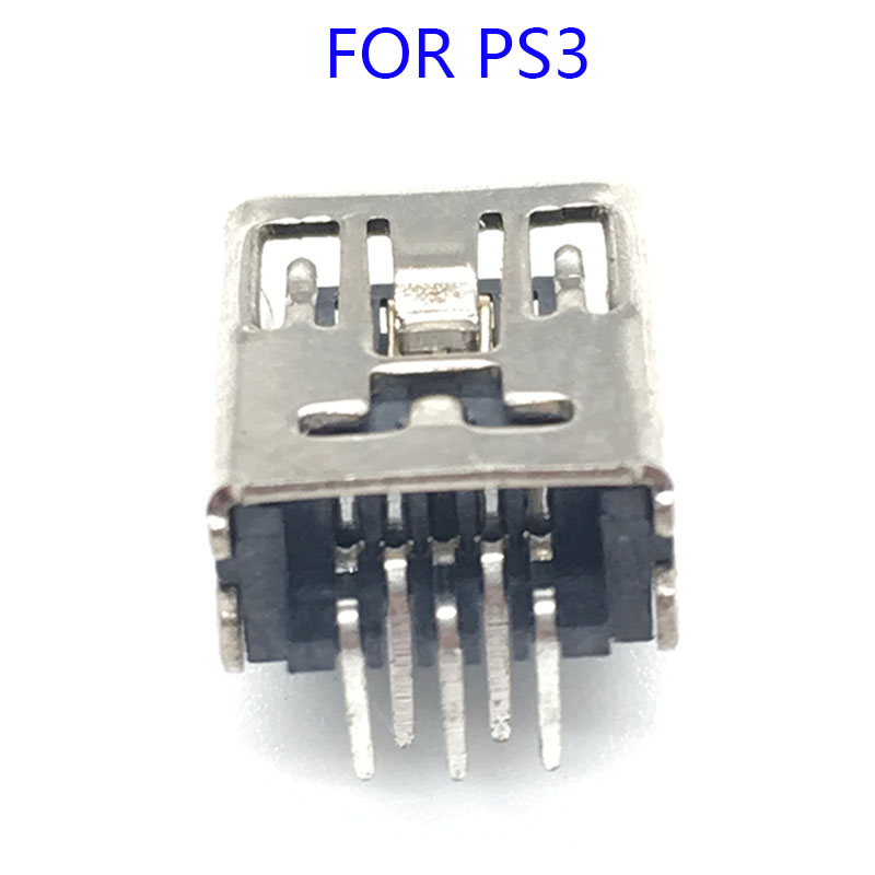 10Pcs Mini USB Charging Port Socket Power Charger Connector Replacement For PS3 Controller Repair Part