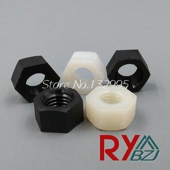 цена на Nylon hex nut plastic hex nut Nylon DIN934 M2 M2.5 M3 M4 M5 M6 M8 M10 M12