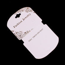 100pcs/lot Kraft Fashion Jewelry Necklace & Earring Card 7x5.5cm Paper Craft Card Gold Foil Print Hang Tag Jewelry Displays